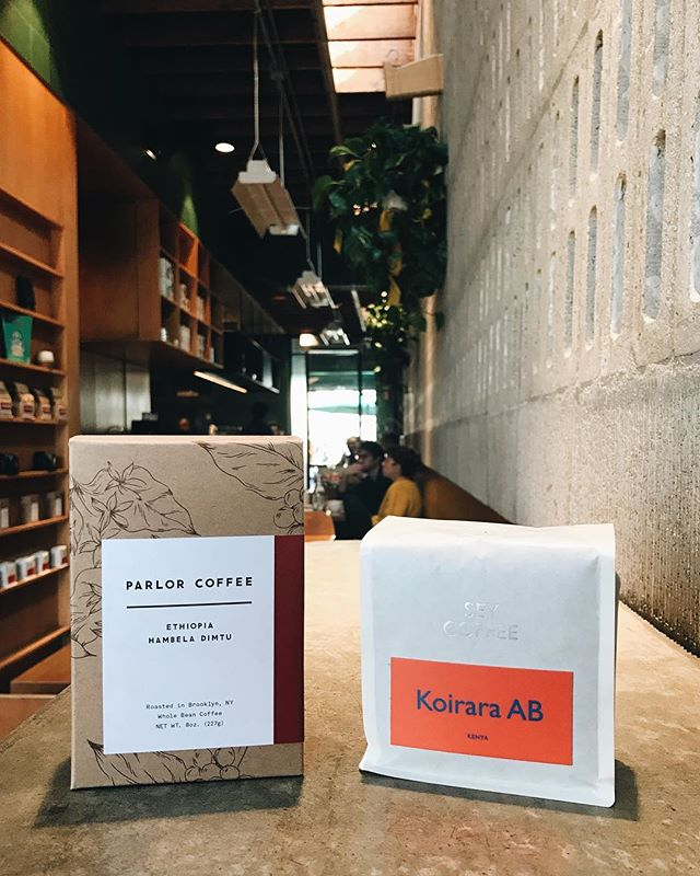 We've got these two killer coffees coming to our bar tomorrow. Ethiopia, Hambela Dimtu from @parlorcoffee on batch brew and Kenya, Koirara AB from @seycoffee on pour over. Come by for some mango, raspberry, lemonade, and hibiscus with your coffee tomorrow😍 __ #paramountcoffeeproject #pcpfairfax #coffee #pourover