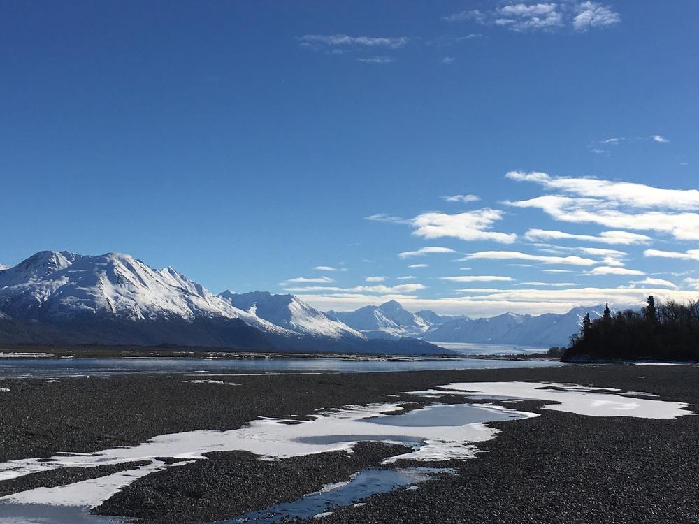 Knik River with Knik Glacier in the background