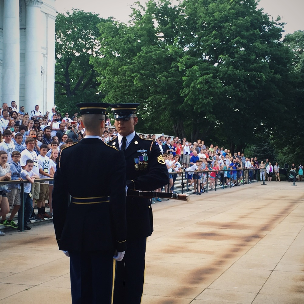 Changing of the Guards, Arlington National Cemetery.