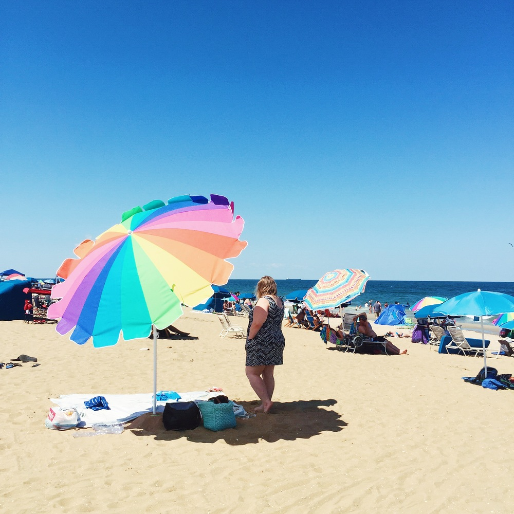 We loved our little spot! We were also so glad we invested in our own beach umbrella.