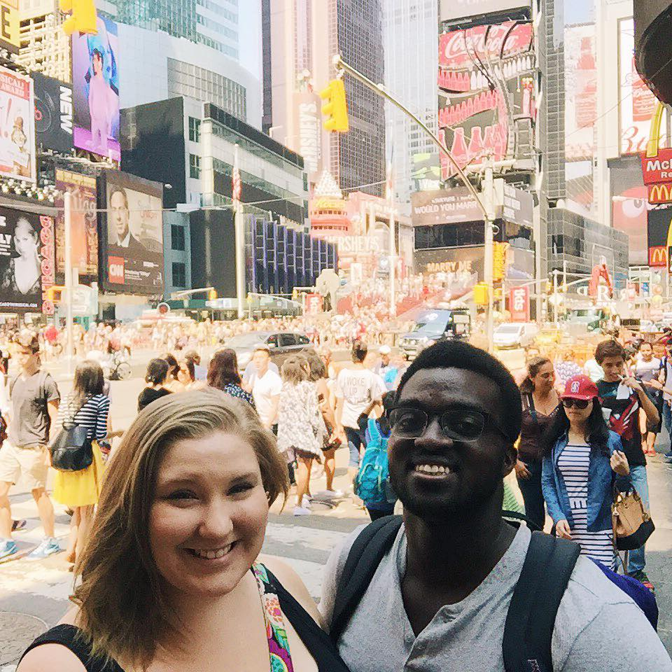 Asa & I in Times Square!