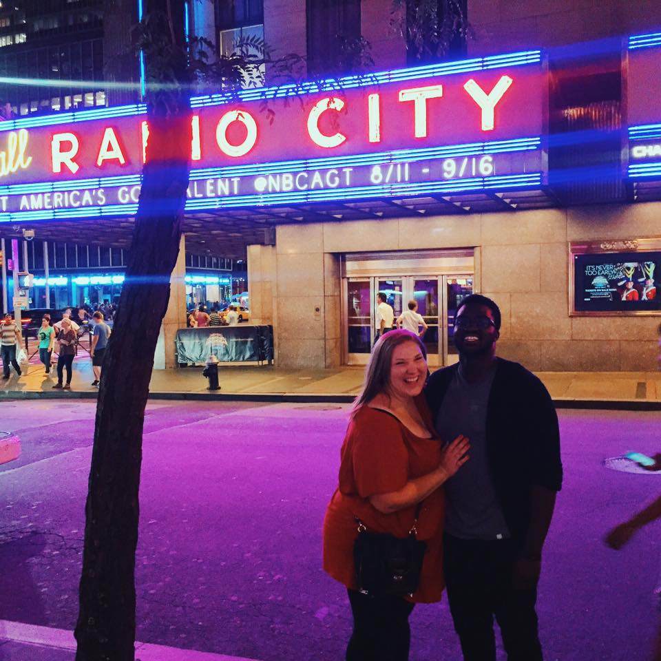 Asa & I outside Radio City after the show.                                                                                                  Photo Creds to Dylan Duncan! :)