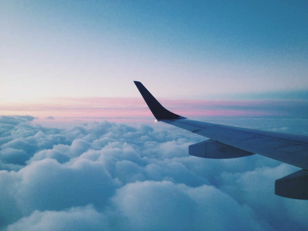 Flying. JetBlue. Clouds. Sky. Sunrise. TrueBlue.