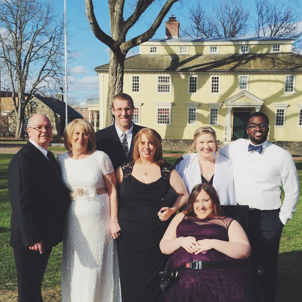 Wedding. Storrowtown Tavern. Big E. Bride. Groom. Getting Married. Family. Hitched.