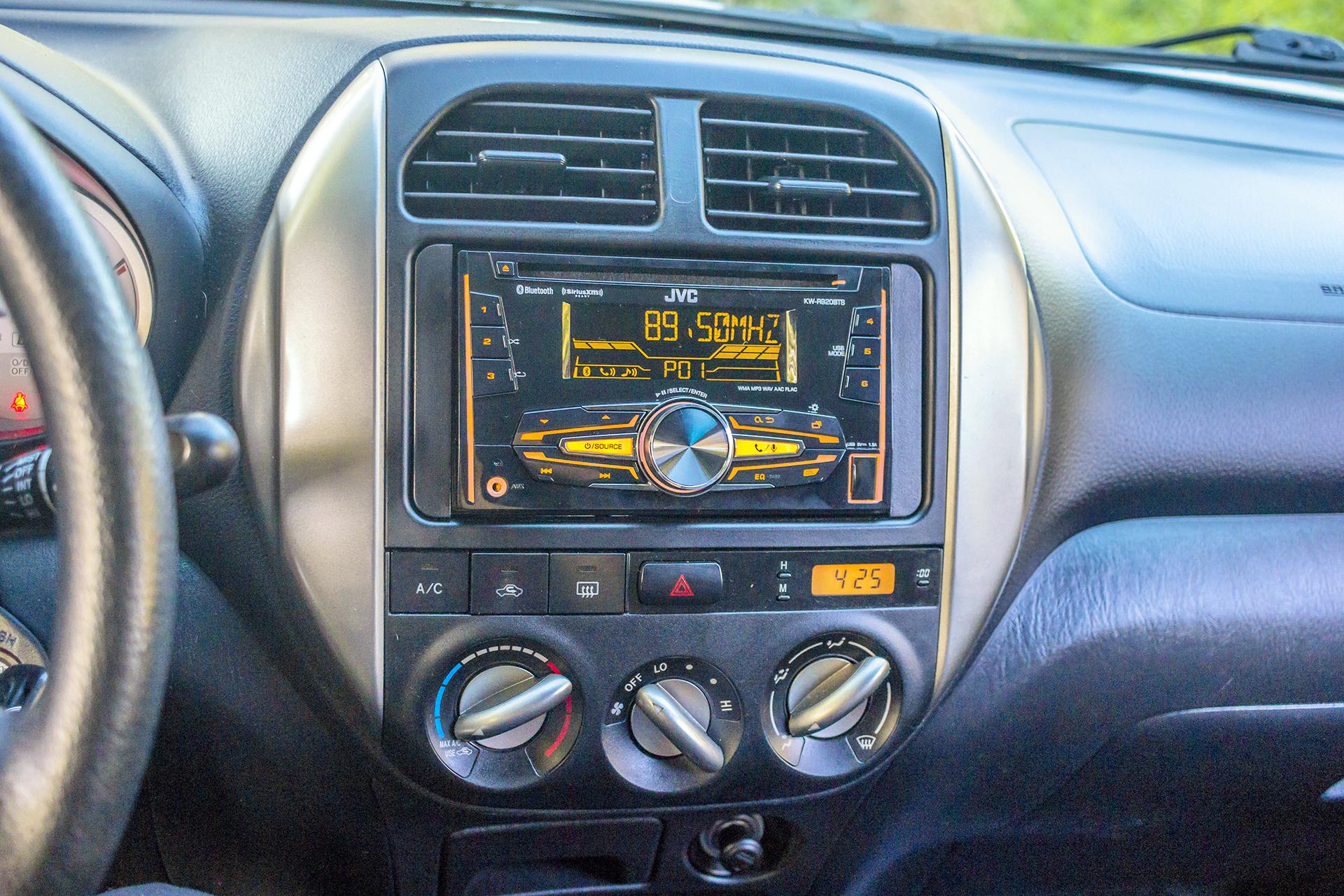 This 2004 Toyota RAV4 had us install a new JVC Radio