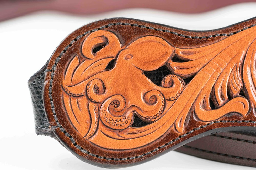 Brian Warner Leather with Silverwork by Wesley Hammond