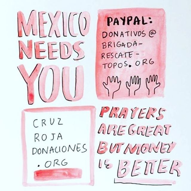 Regram from @kittenmask  We still need your help! #fuerzamexico #donations #mexico