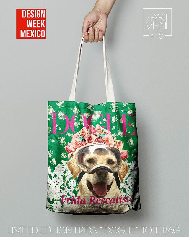 PRE order your Frida Douge tote bag today. Half of the profits will go to supports animals in need after the earthquake in Mexico. DM for info.  PRE ordena tu Frida Douge tote bag hoy! La mitad de las ganancias se irá para apoyar a animales afectados en el temblor de México. Informes por DM.  @designweekmex @voguemexico @vogueparis . . . #apartment415 #mexico #cdmx #designweek #totebag #textiles #diseño #hechoenmexico #frida #vogue #douge #pupppy #FridaKahlo #vogue @salmahayek #fridarescatistamx #madeinmexico #stripes #frida #mexicocity #condesa #roma #style #ootd #help #support #animals #bag #styleblogger #styleguide