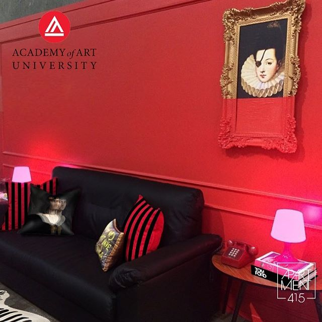 #TBT to a few years ago when we designed the exhibit student space for @academy_of_art 's School of Interior Architecture & Design. . . . #apartment415 #interiordesign #interiordecor #pillows #red #style #academyart #aau_iad #design #redinterior #stripes #contrast #exhibitdesign #thursdaymood #design #aau