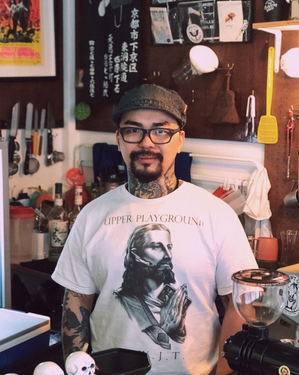 Unagi - barista at Piu Piu Piu