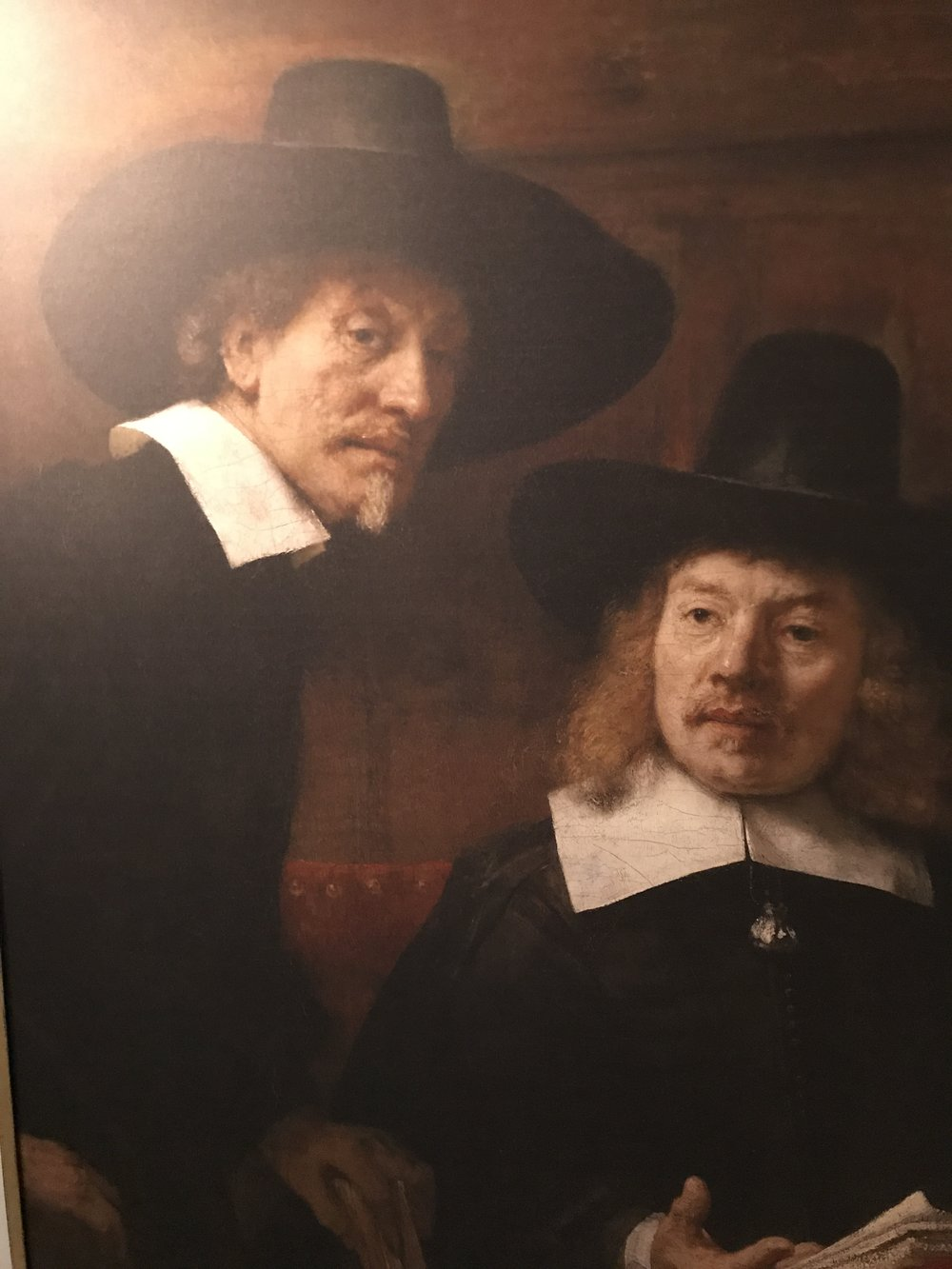 A copy of one of the wonderful oil Paintings by one of the Dutch Masters hangs in the Hall of the Restaurant ..