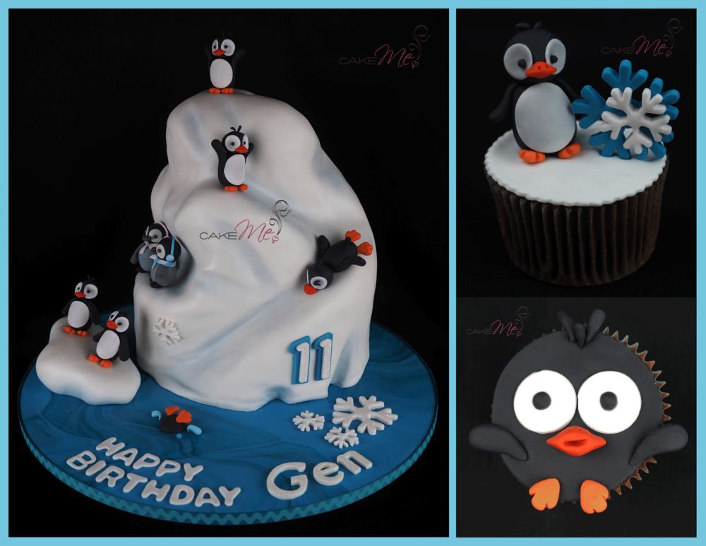 penguin iceberg cake cupcake cake me kids