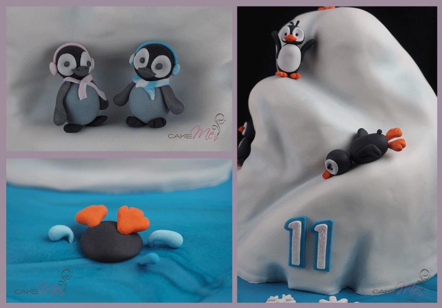penguins diving sliding splash baby