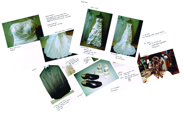 "My four page ""brief"" for my wedding cake toppers... Um no, I'm not a bridezilla... ;p"