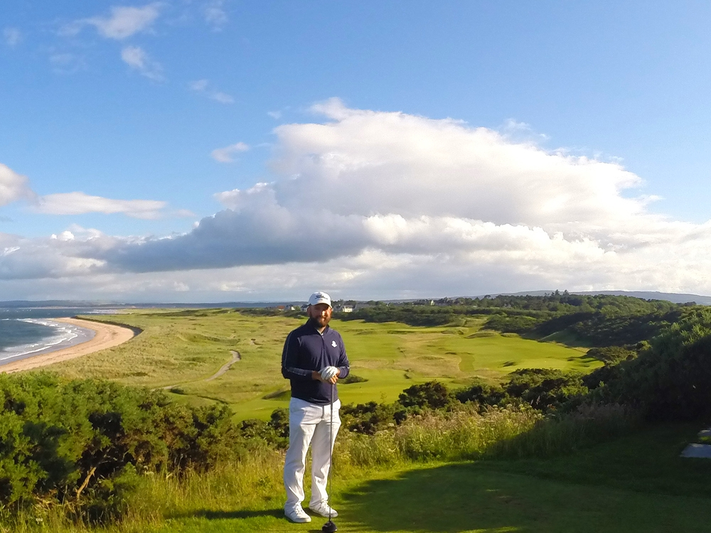 Royal Dornoch: The Only Picture of Me on a Golf Course