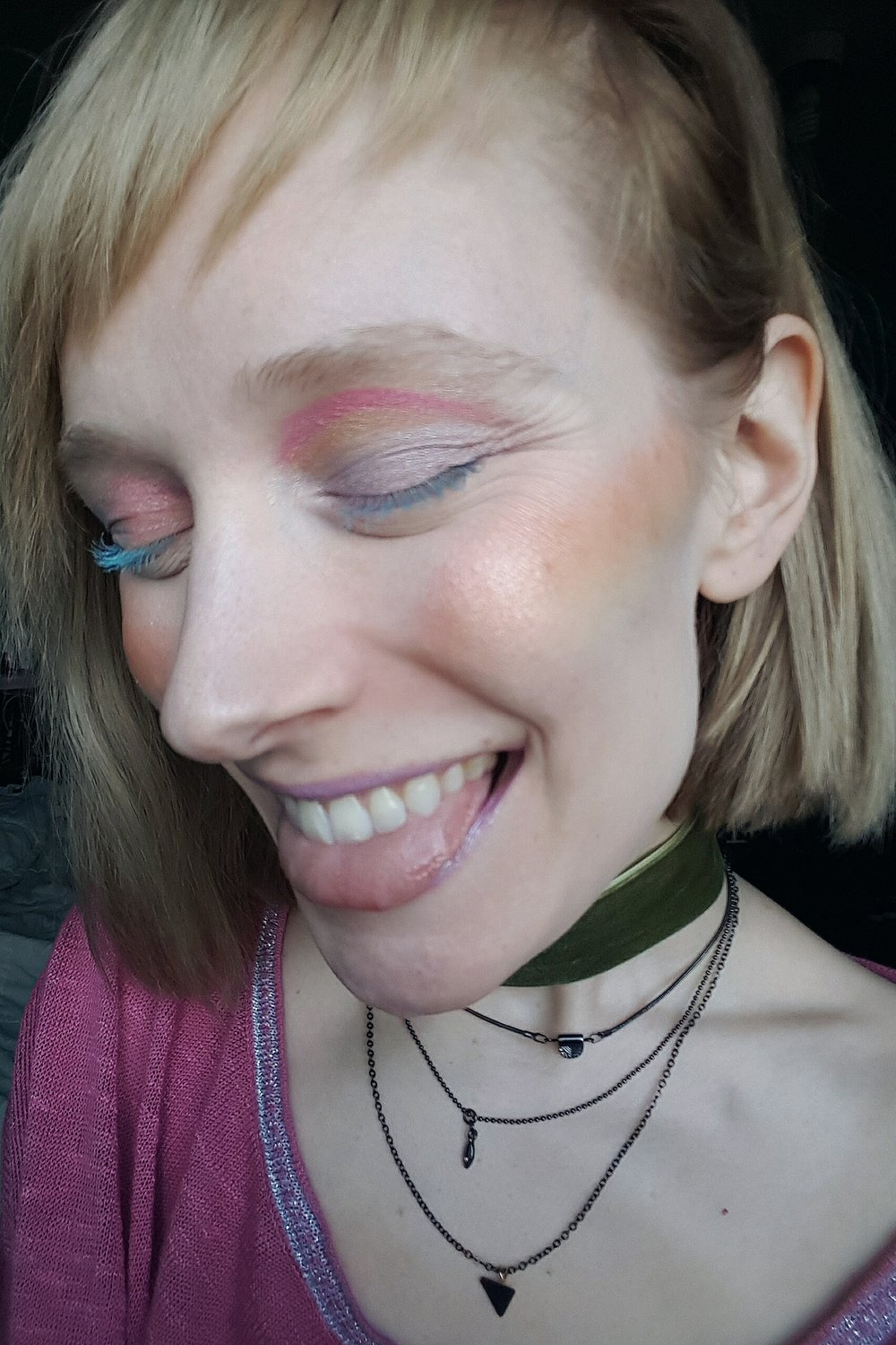 A shot of the finished unicorn look from my tutorial above. Now, giddy-up and try this look out!As always, let me know what you think! XO