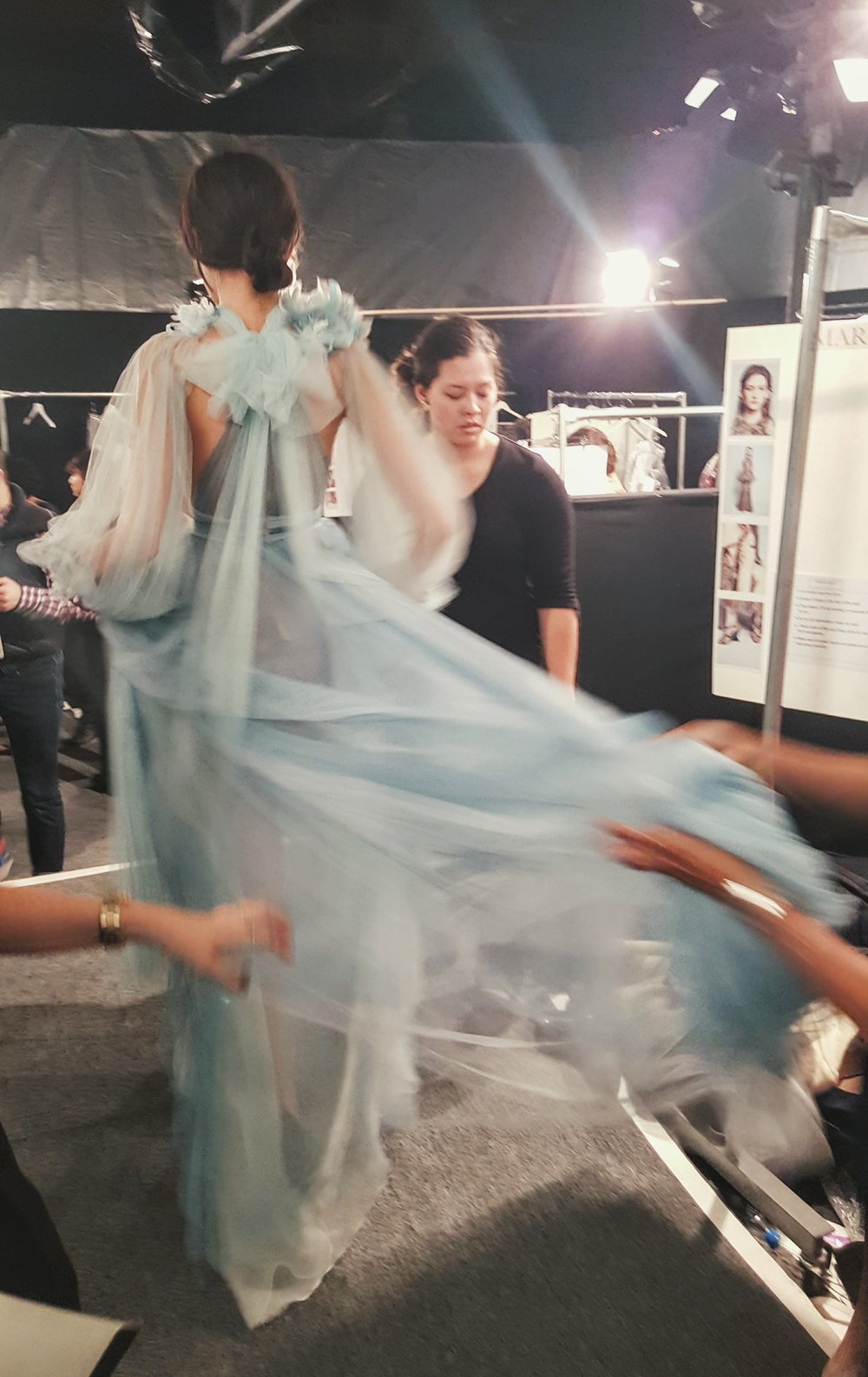 This baby blue gown was like a full-length babydoll, so floaty and stunning - one of my faves.