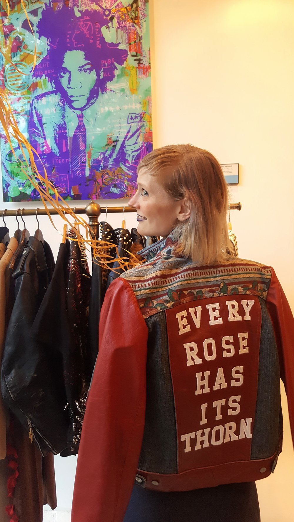 If I could take anything away from this multi-artist store, I believe it would be this rock'n'roll jacket - so rad!