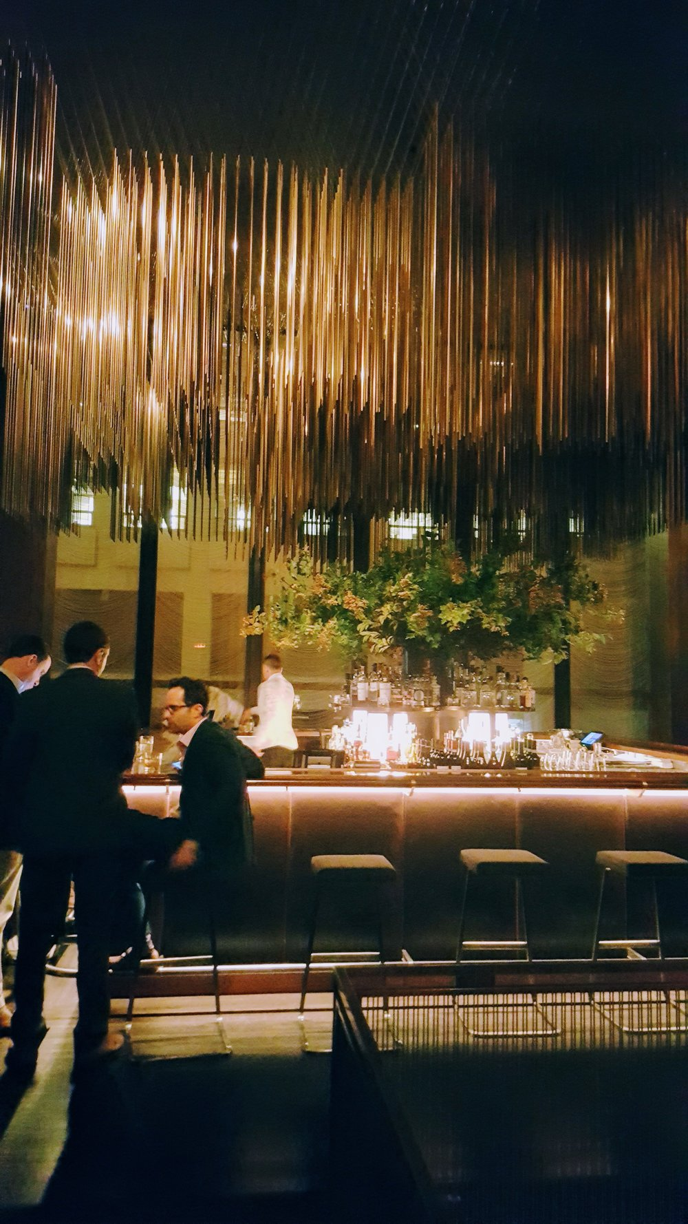One of the most luxe, striking bars I've ever seen, within The Grill. The two images   below   are in the same dining room - the famed dessert trays, in the style of The Four Seasons restaurant.