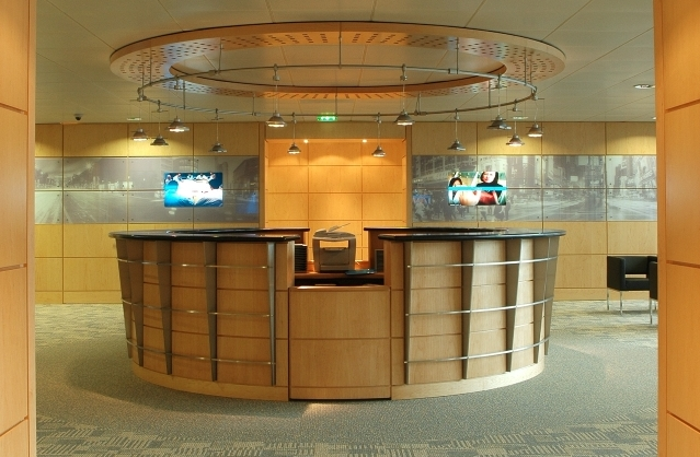 bespoke joinery reception desk