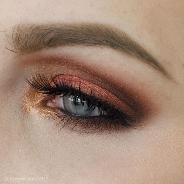 dramatic copper eyeshadow tutorial � rebeccashoresmuacom