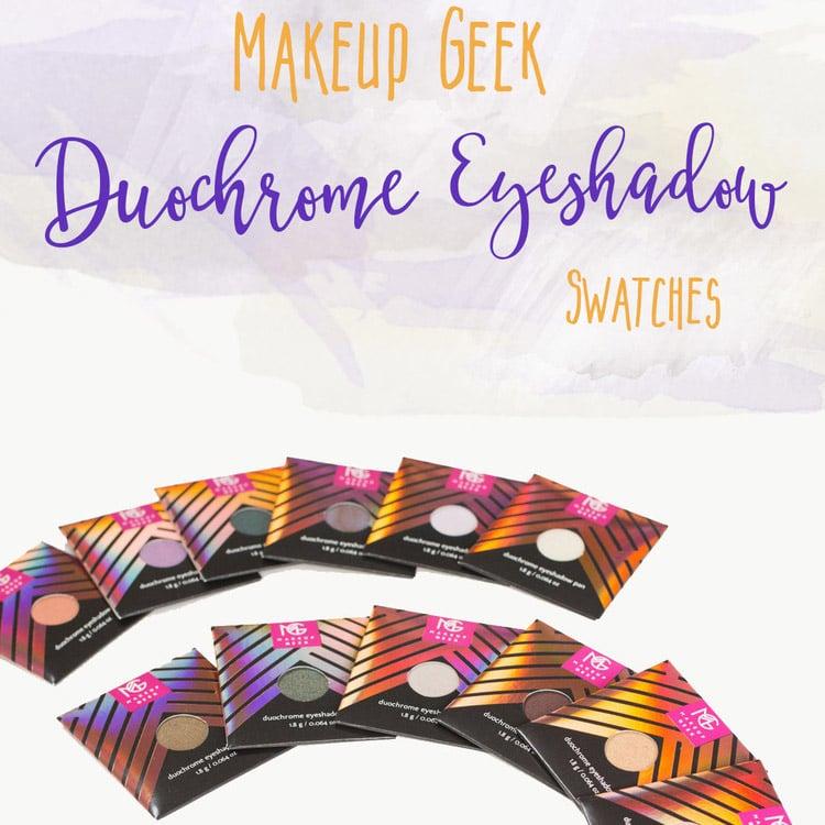 Makeup Geek Duochome Eyeshadow Swatches