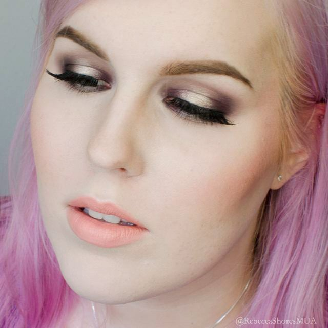 Champagne and Purple eye shadow Tutorial