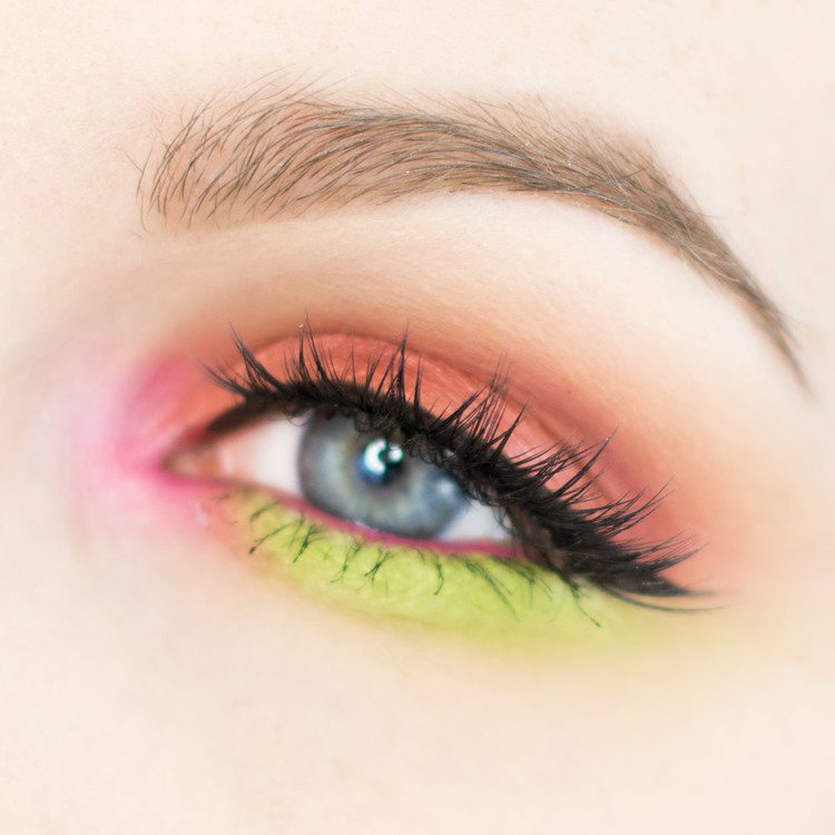 Hot Pink Lime Green And Copper Bright Eye Shadow Tutorial