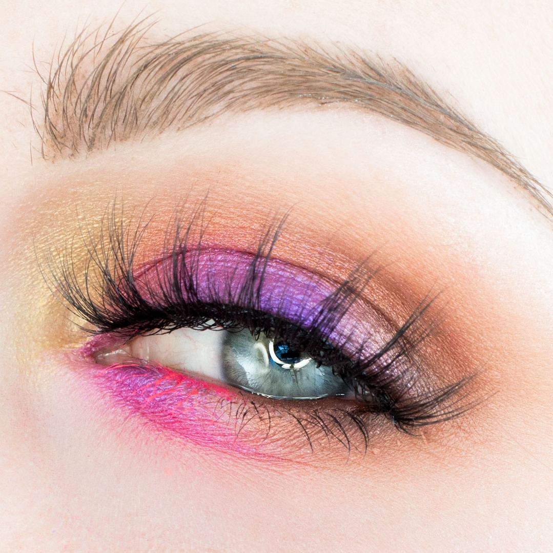 How to Line Arabic eyes with pink amp purple eye   Makeup