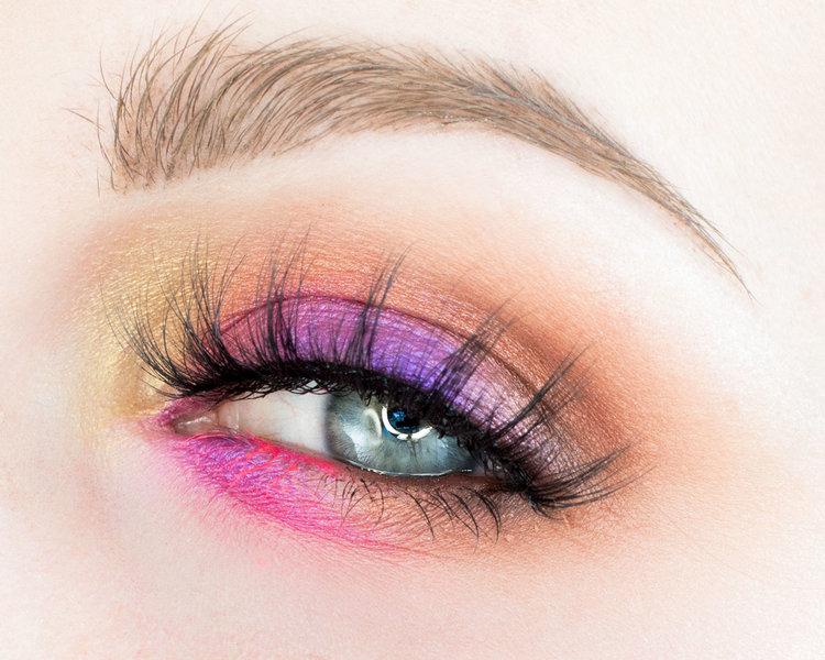 Colorful Pink And Purple Eye Makeup Tutorial Rebeccashoresmua