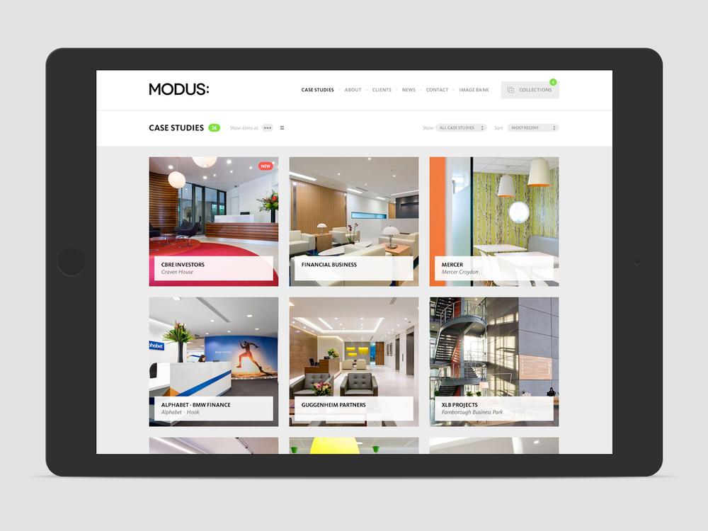 modus responsive site