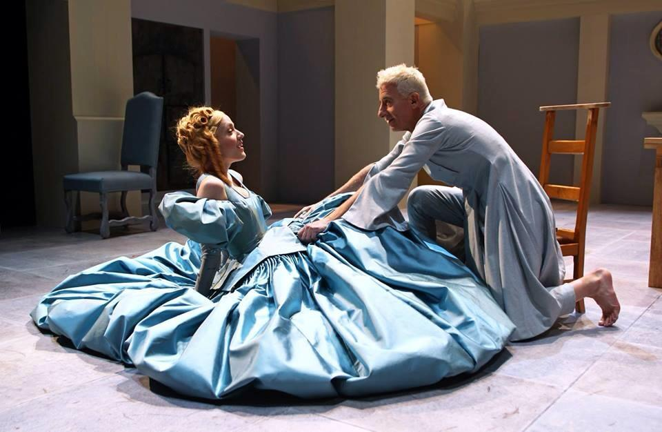 Cate and Steven Epp in Tartuffe at South Coast Repertory.
