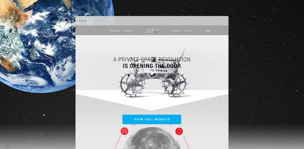 A refreshed design and contents for the ispace website, extending but respecting their original Japanese brand.