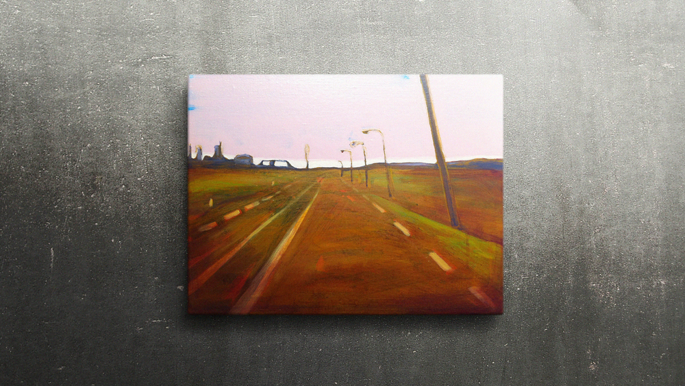 EUROPAWEG MAASVLAKTE  40X30cm Oil on canvas