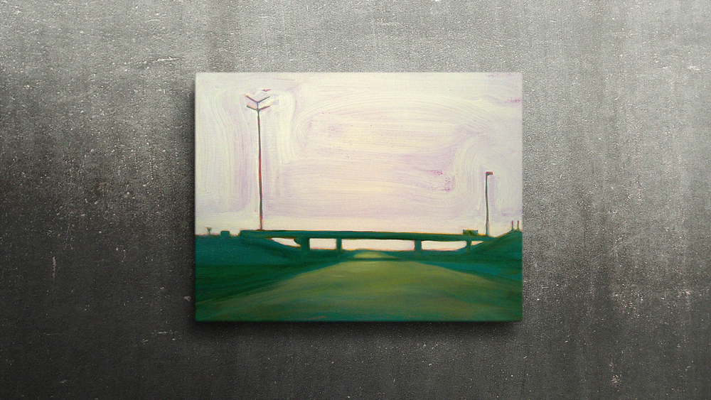 R2 LIEFKENSHOEK TUNNEL  40X30cm Oil on canvas