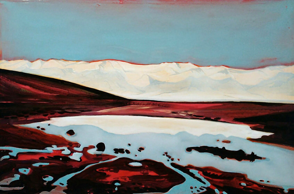 DEATH VALLEY 150x80 cm Acrylic and epoxy on canvas