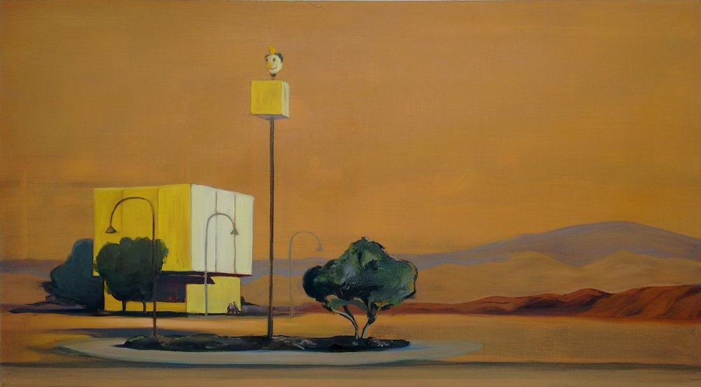 MONUMENT BOULEVARD  150x80 cm Oil on canvas