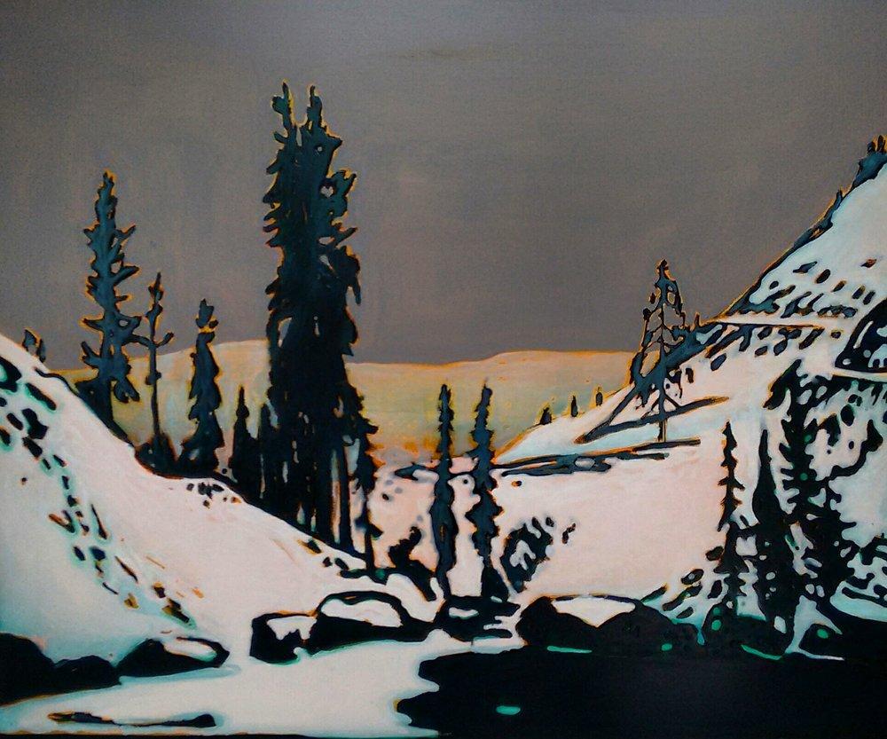 ABANDONED  120x100 cm Acrylic and epoxy on canvas