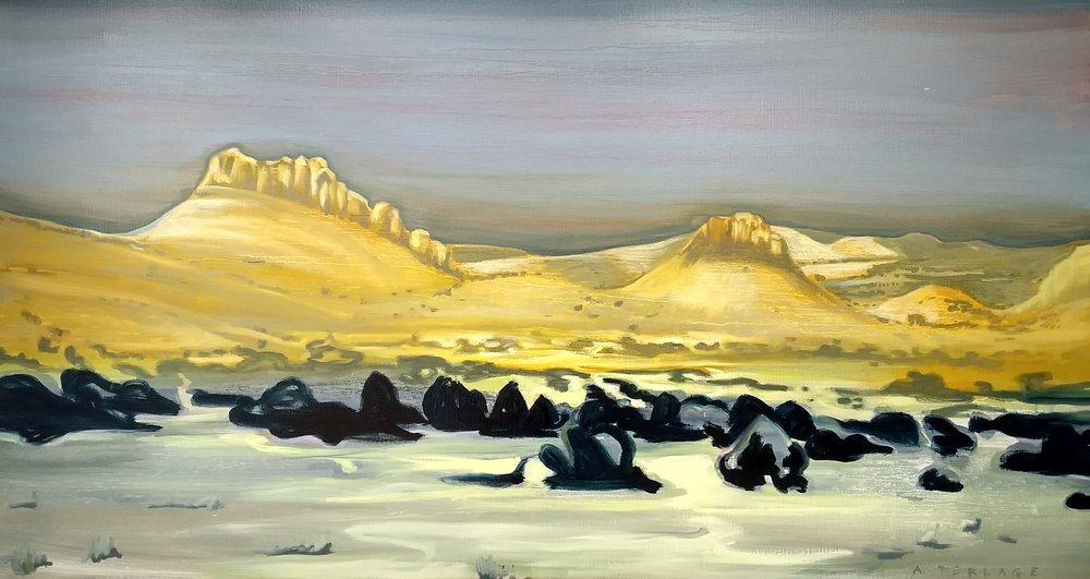 国会礁脉 80 x 150 cm 布面油彩