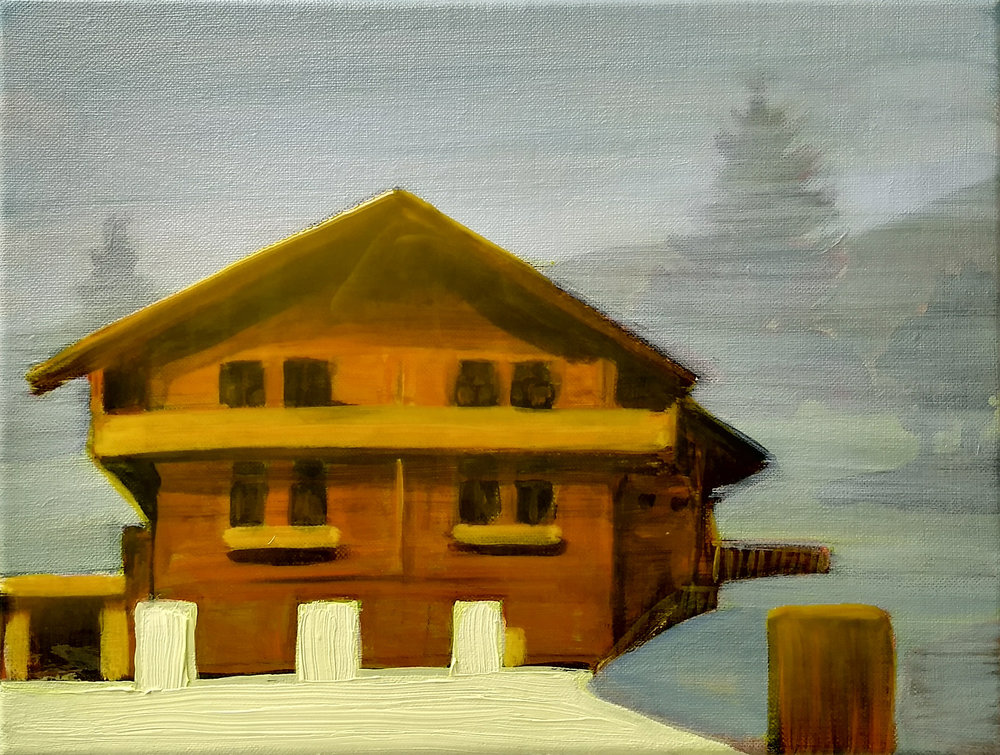 MORGINS  30x40 cm acrylic, epoxy and oil on canvas