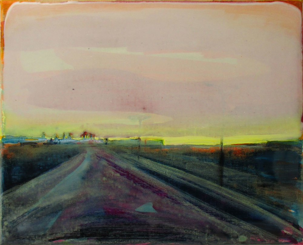 EUROPAWEG  30x40 cm Acrylic and epoxy on canvas Sold