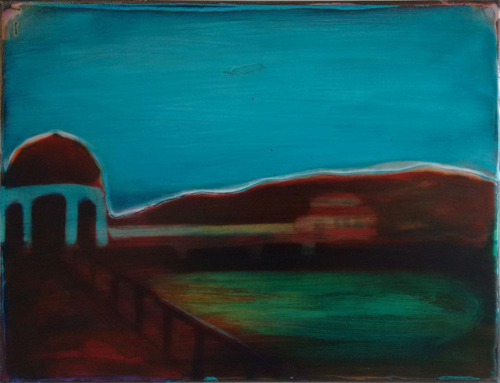 LYSEKIL-2  30x40 cm acrylic and epoxy on canvas