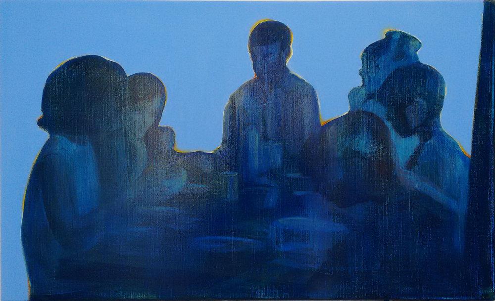 太浩湖 80 x 120 cm 布面油彩