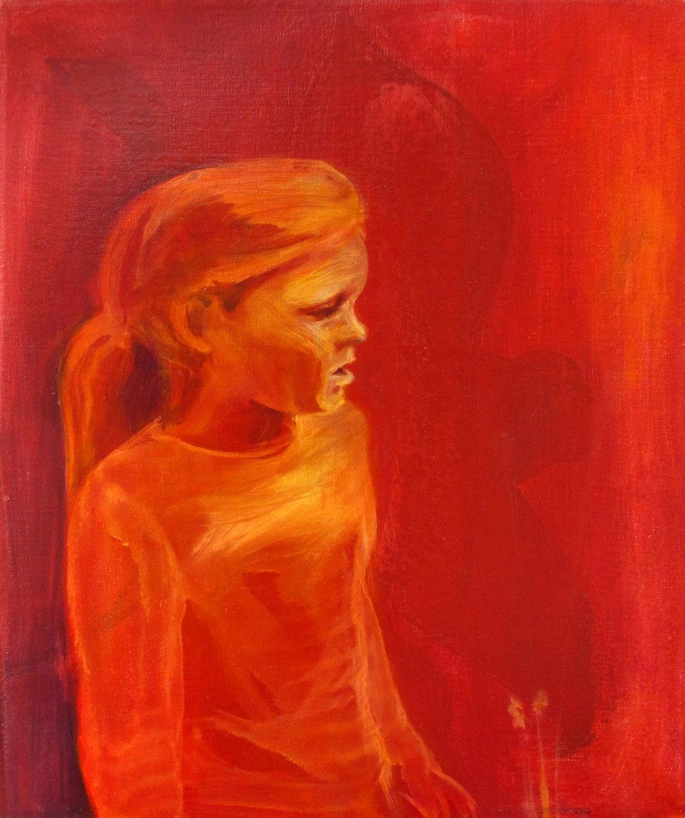 安娜 30 x 40 cm 布面油彩