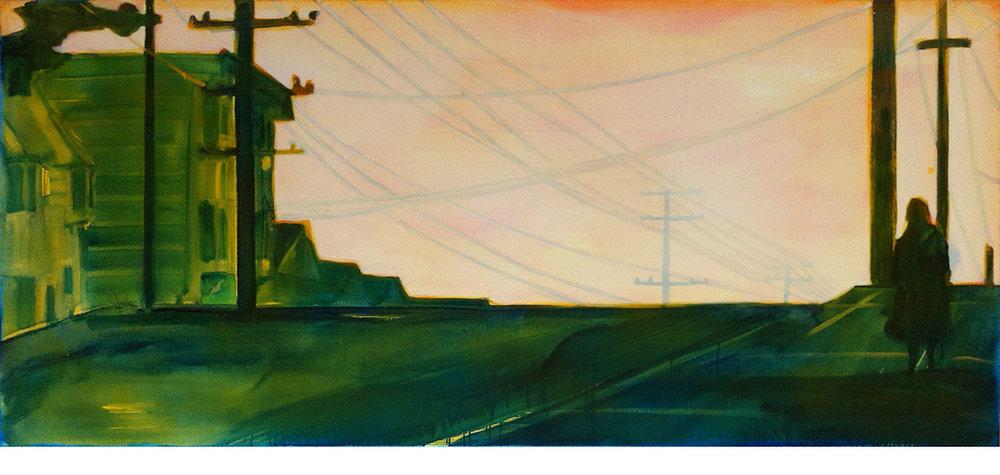 特雷罗山 80 x 180 cm 布面丙烯酸及环氧树脂 租出