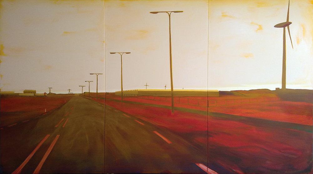 EUROPAWEG MAASVLAKTE  200X360 cm oIL on canvas