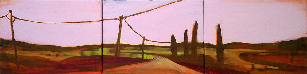 D57-FR  30X120 cm Oil on canvas