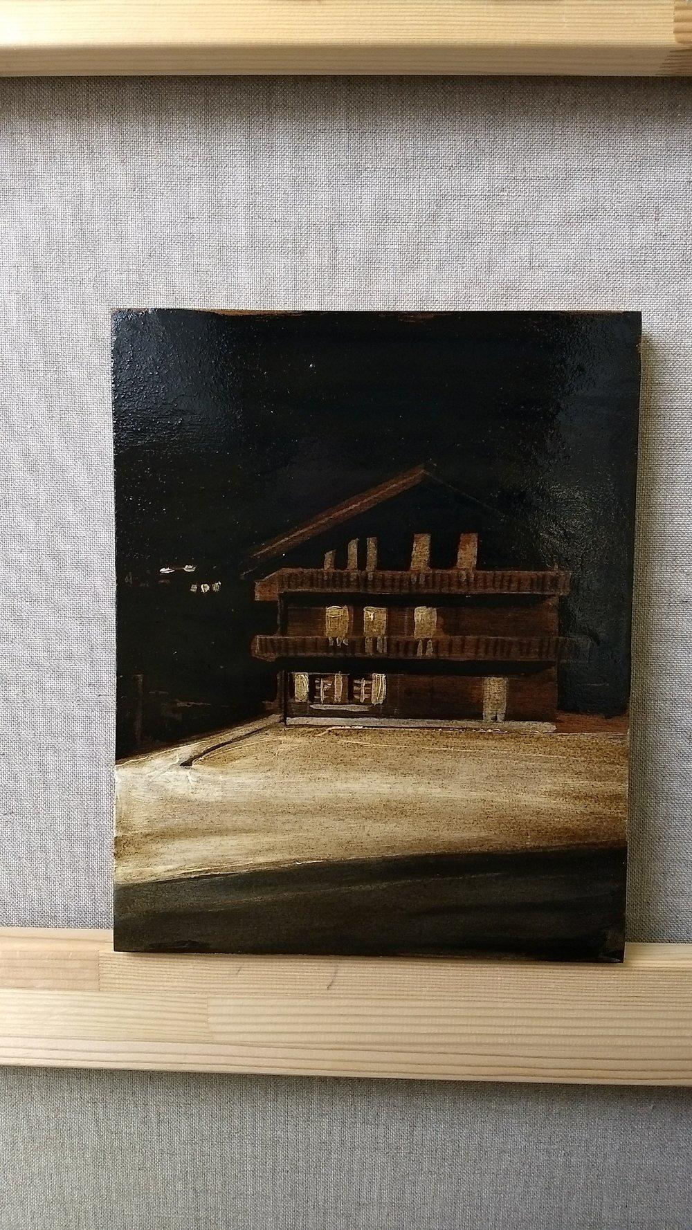 MORGINS  30x24 cm Mixed media on wood  Sold