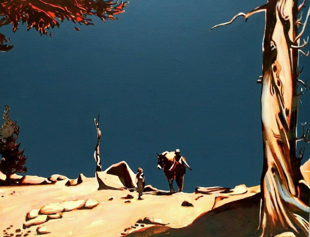 内华达山脉 100 x 130 cm 布面丙烯酸及环氧树脂 已售