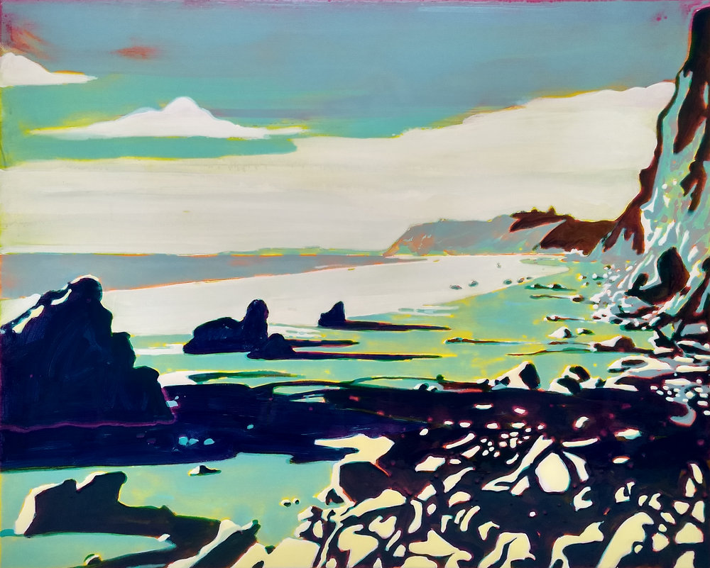 SANTA BARBARA  100x120 cm epoxy on canvas  Sold
